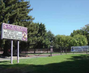 Sacramento High School Sign