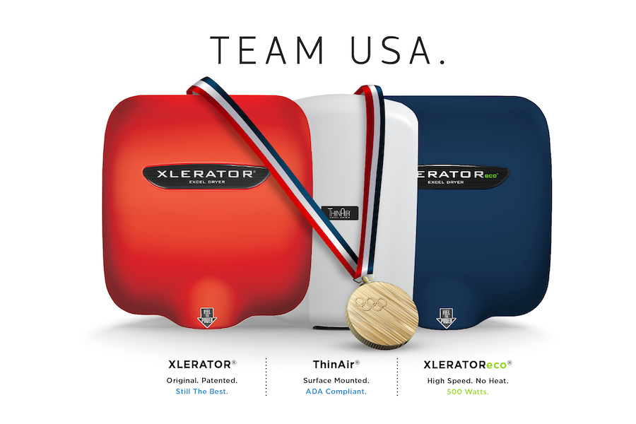 Excel_Hand Dryer ProductLine_teamUSA-Olympics